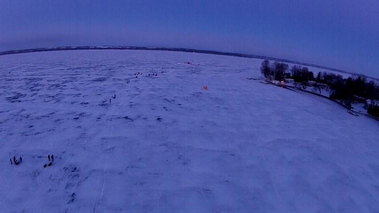 Aerial Shot 2 Lake Simcoe Championship Ice Fishing Derby